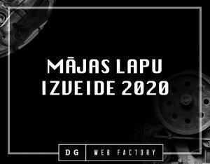Mājas lapu izveide 2020. gadā