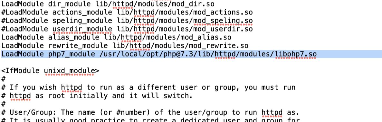 LoadModule php7_module /usr/local/opt/php@7.3/lib/httpd/modules/libphp7.so